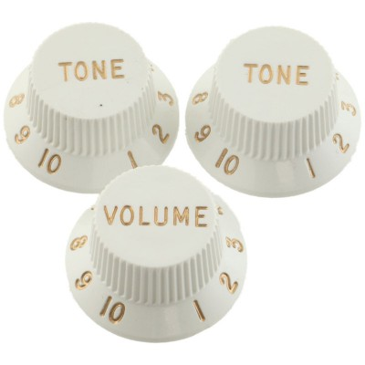 Fender Original Stratocaster Knobs Set - White