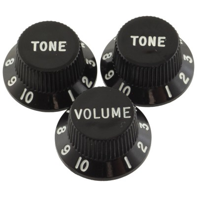 Fender Original Stratocaster Knobs Set - Black