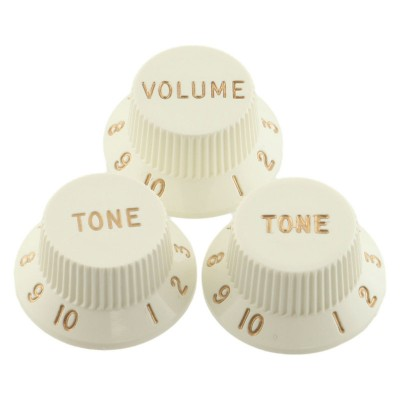 Fender Original Stratocaster Knobs Set - Parchment