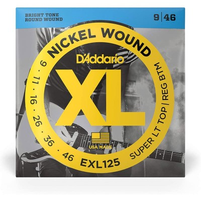 D'addario EXL125 Super Light Top / Regular Botton 9-42