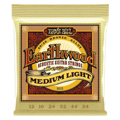 Ernie Ball 2003 Earthwood 80/20 Bronze 12-54 Medium Light