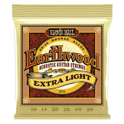 Ernie Ball 2006 Earthwood 80/20 Bronze 10/50 Extra Light