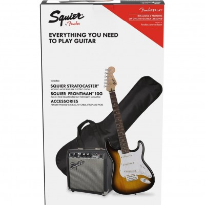Squier Pack Bullet Stratocaster - 3 Color Sunburst
